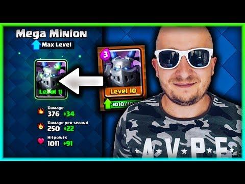 MEGA MINION MAX LEVEL! CLASH ROYALE POLSKA
