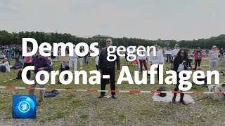 Demonstrationen gegen Corona-Auflagen