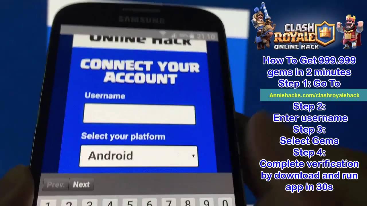 hack online clash royale