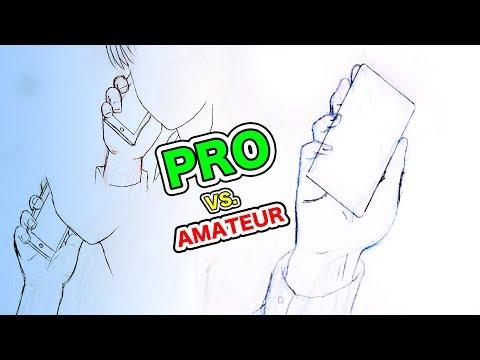 Japanese Pro vs. Amateur Drawing Hands