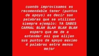 PISTA DE BATALLA DE GALLOS HIP HOP CON TIPS PARA IMPROVISAR RAP