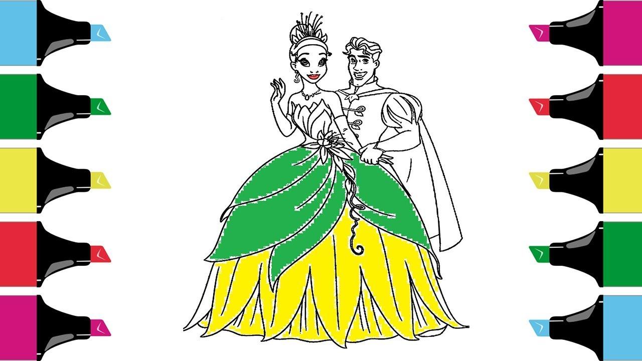 Princess and the Frog Tiana Coloring Page  Disney Princess Coloring ...