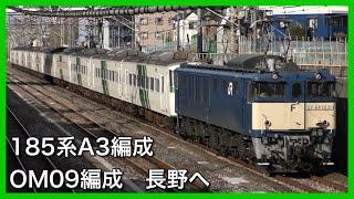 【185系長野へ】A3編成・OM09編成が廃車のため長野総合車両センターへ