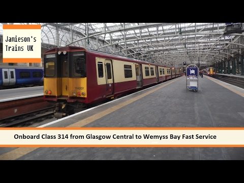 Onboard Glass 314 from Glasgow Central to Wemyss Bay Fast Service