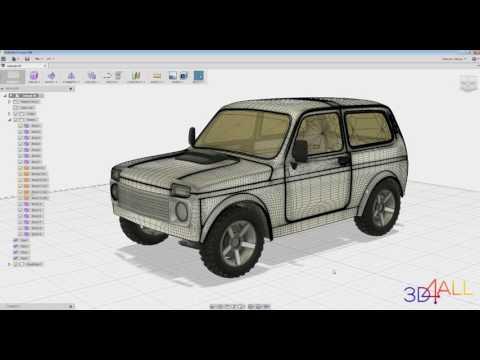 Моделирование обвесов  в программе Fusion 360.