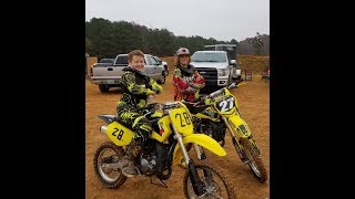 Nathans first motocrossdirt bike race