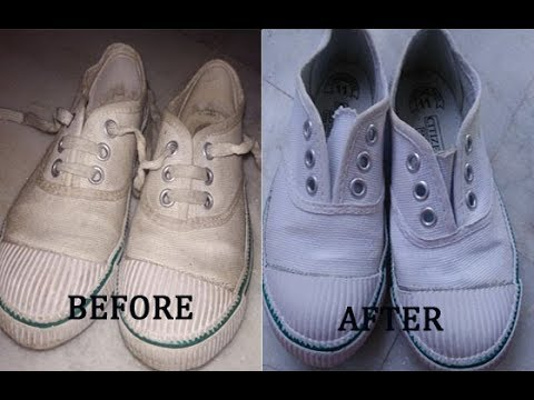 वाइट कॅन्वस शूस को कैसे सॉफ करे  , How to clean canvas shoe ,How to clean your kids shoes