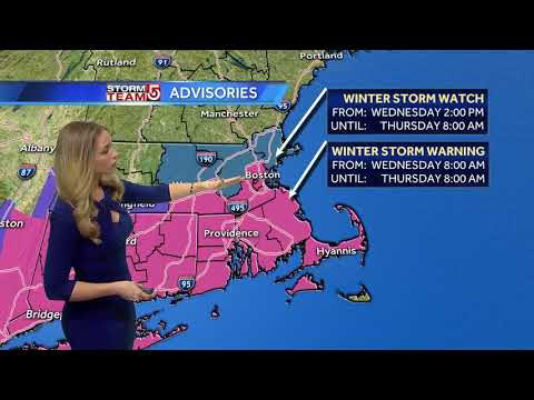 Video: Heavier bands of snow set up late