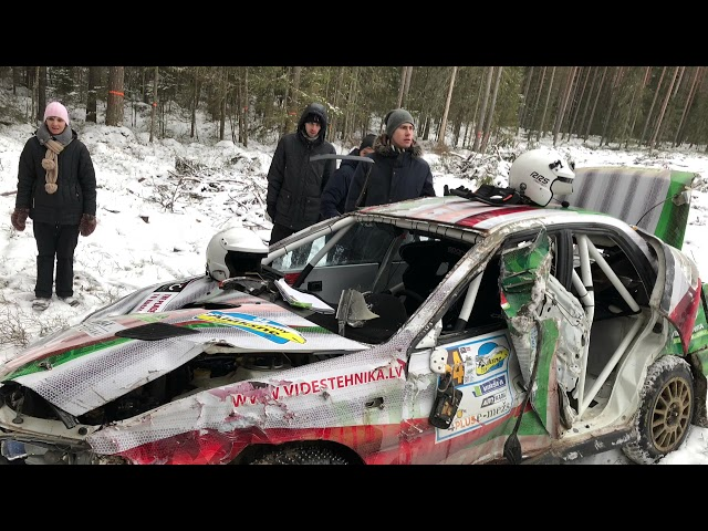 Rally Aluksne 2018 (Crashes & Close Calls)