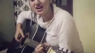 Punjabi girl singing Punjabi song cute girl playing guitar