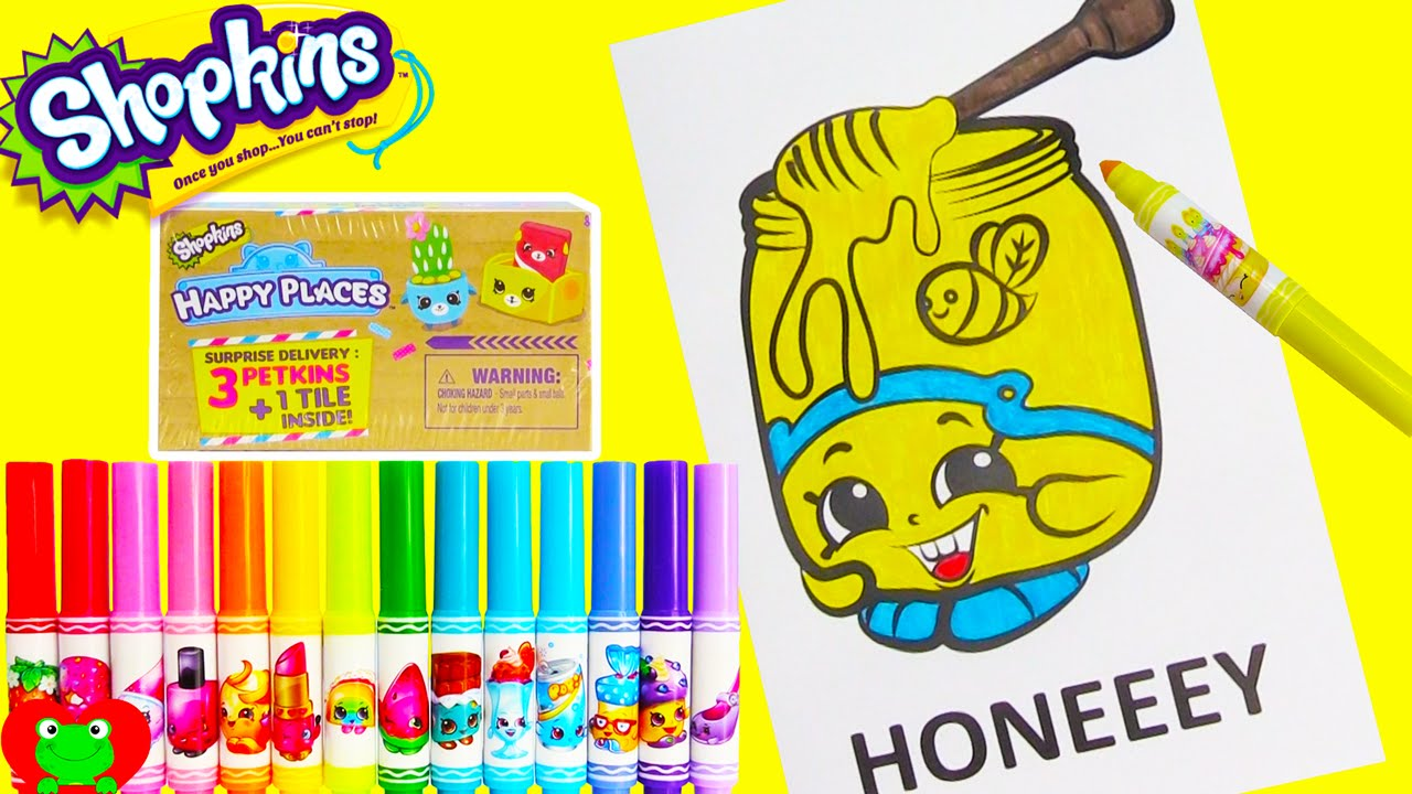 Shopkins Honeeey Coloring Page
