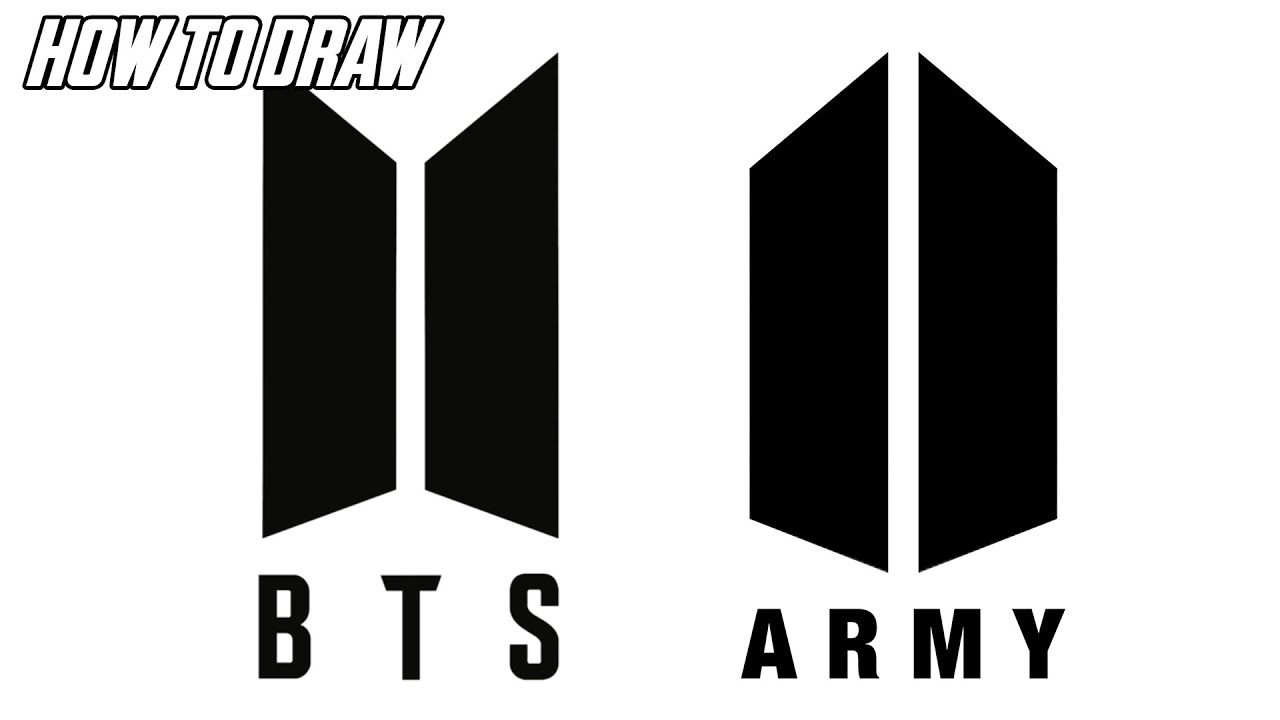 how to draw bts logo easy step by step youtube how to draw bts logo easy step by step
