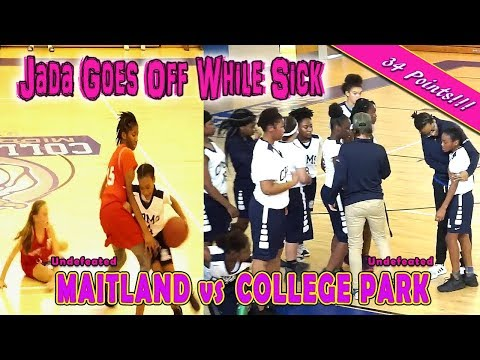 Jada Eads Plays Sick (Still Drops 34 pts!!!!) | Maitland vs College Park