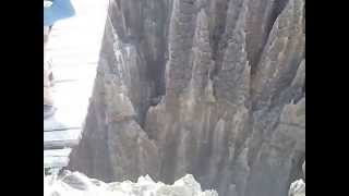 マダガスカル ツィンギーの吊り橋