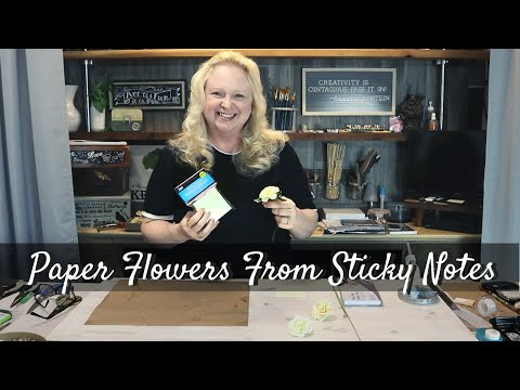 How to make Paper Flowers from Sticky Notes / DIY Crafts