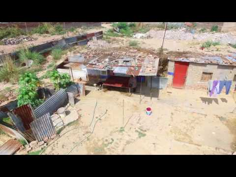 Aerial stock footage india Capturing the harsh reality of life poverty