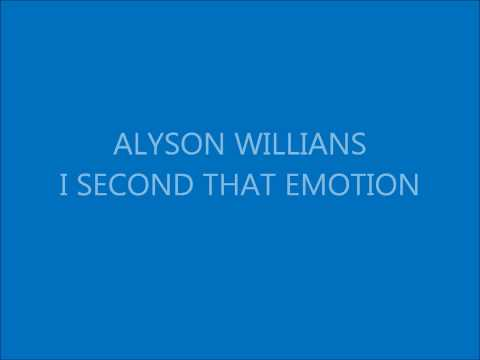 Alyson Willians I Second That Emotion mp3