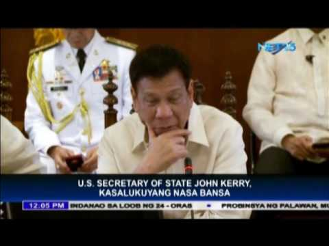 President Duterte meets Secretary Kerry