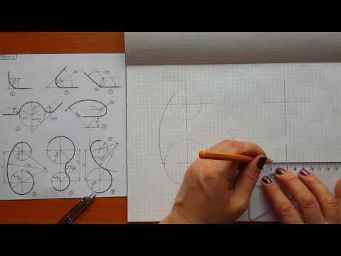 Как построить сопряжение прямой и окружности