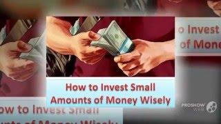 Secured Options - How to Invest Small Amounts of Money Wisely