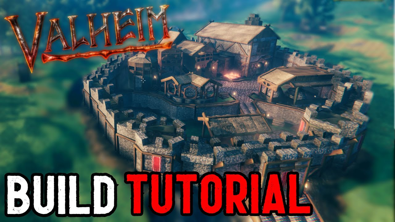 Download Valheim - How to Build a Castle/Castle Wall (step by step Tutorial)