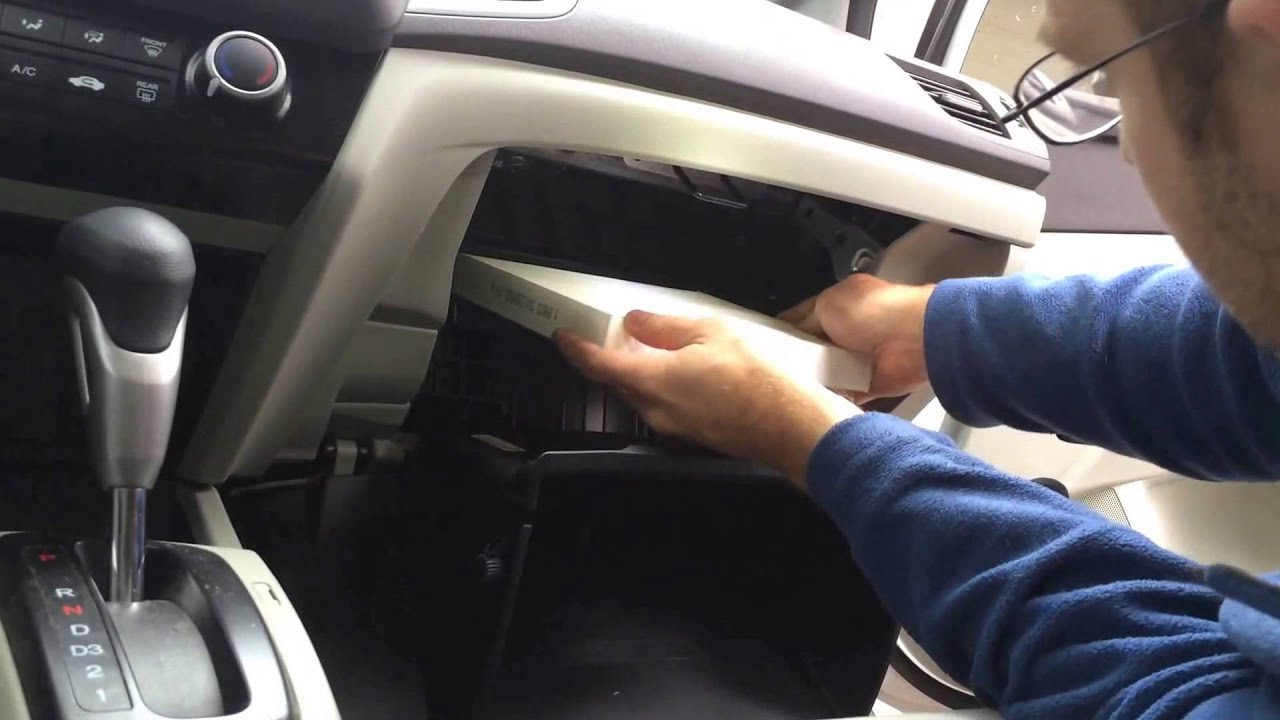 2012 Honda Civic Cabin Air Filter Replacement Youtube
