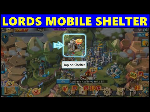 Lords Mobile Shelter ★ Lords Mobile New Building Shelter To Keep Troops & Heroes Safe!