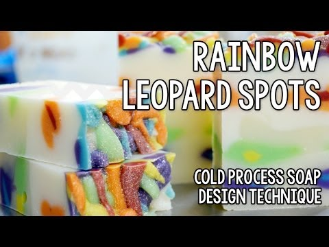 Rainbow Soap with Leopard Spots for Week 4 of the Soap Challenge 2013