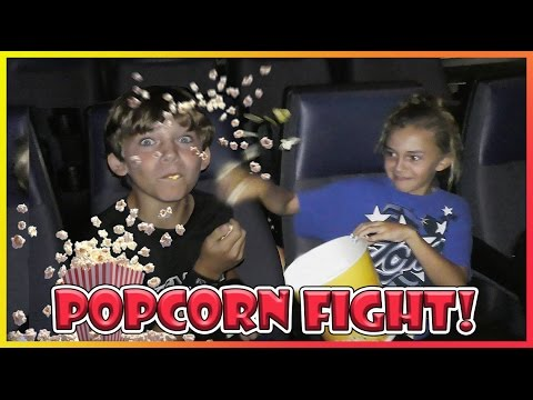 POPCORN FIGHT AT THE MOVIES! | We Are The Davises