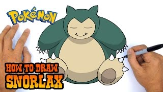 How to Draw Snorlax | Pokemon