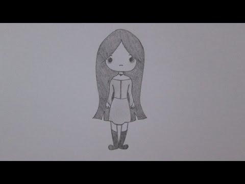 Cómo dibujar una chica emo