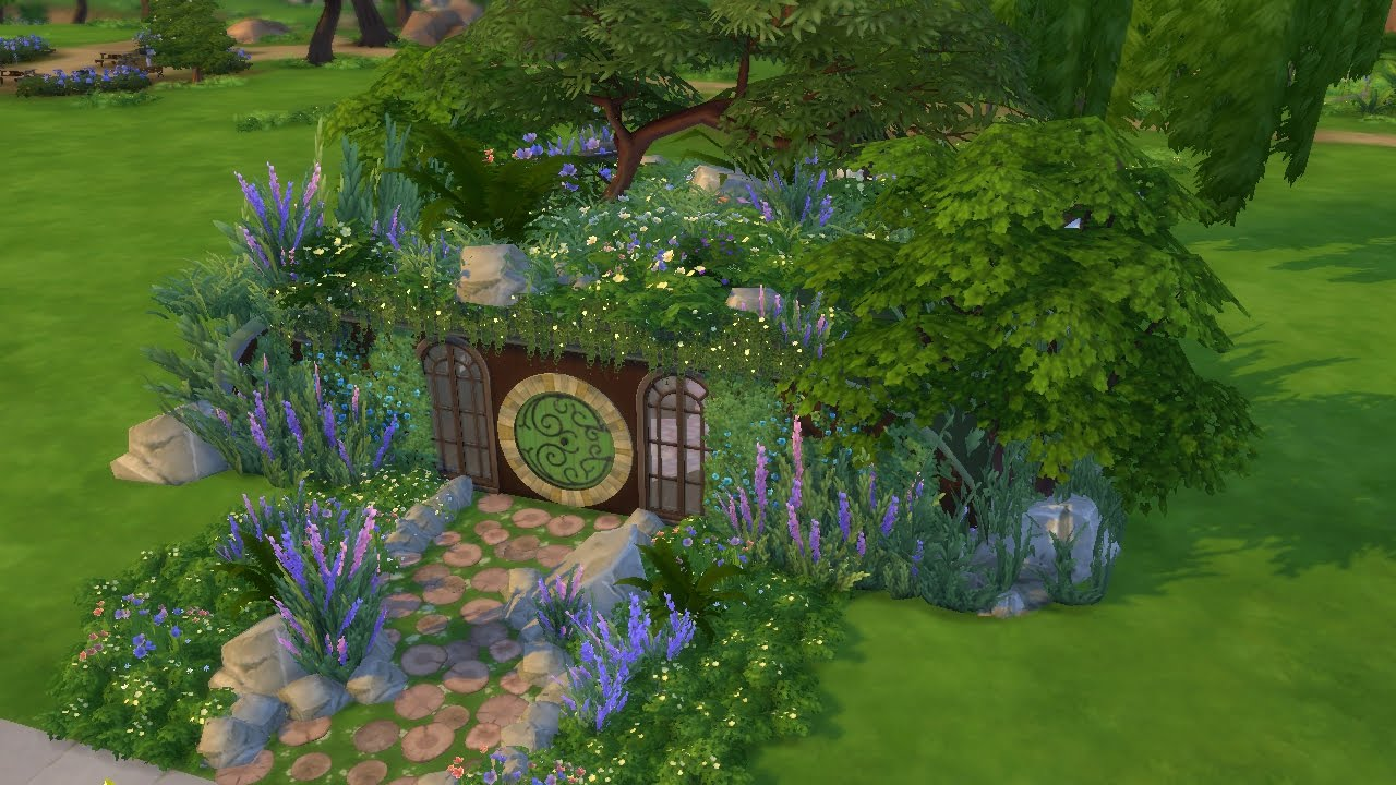 How To Build A Hobbit House Sims 4 Speed Build Hobbit House Youtube