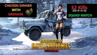 "[Hindi] PUBG Mobile | ""22 Kills"" Amazing Chicken Dinner With Grenade"