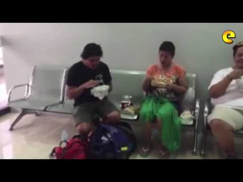 Inday Sara Duterte And Baste Duterte Share Meal At Cebu Airport