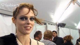 First Look - Coco Rocha + Pat McGrath at Galliano Fall 2012 | Paris Fashion Week PFW | FashionTV
