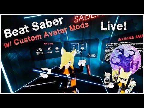 Beat Saber LIVE! | w/ Custom Avatar Mod! | GameHuntReviews Twitch + Youtube