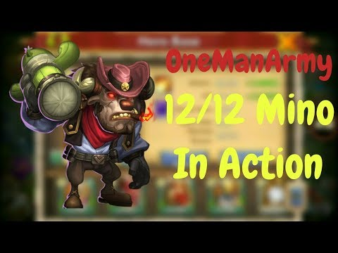 One Man Army L 12/12 Mino In Action L Castle Clash