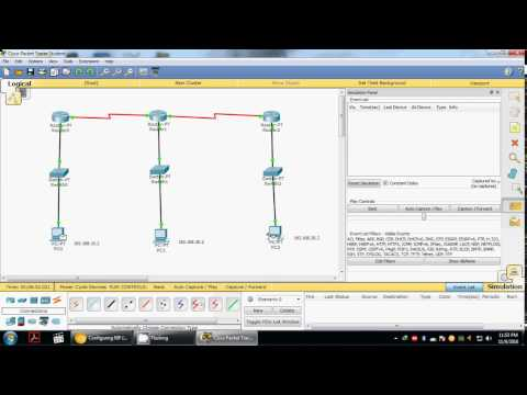 Distance vector routing [RIP] using 3 routers - Cisco packet tracer