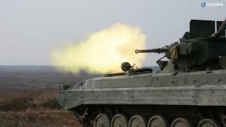 """Вогневі випробування бойових модулів """"Шквал"""" та """"Стілет"""" для БМП"""