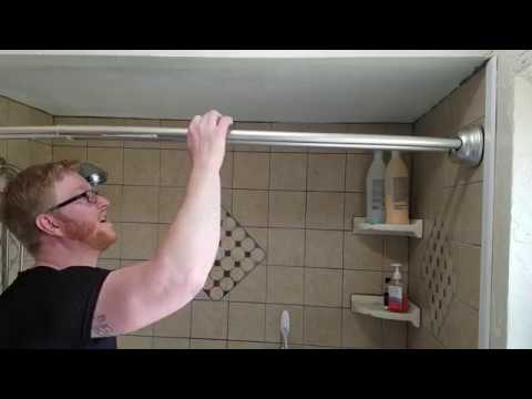 Glacier Bay Tension Curved Double Shower Rod Diy Install Youtube