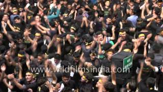 Hauntingly beautiful chest-thumping rhythm and chanting by Muharram devotees