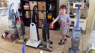 Caleb's collection of vacuums  - kids video
