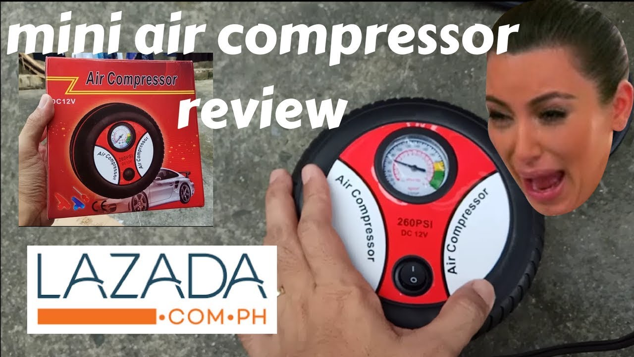 Mini Air Compressor Pinoy Review Lazada Philippines Youtube