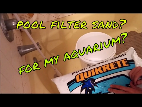 HOW TO: Clean Pool Filter Sand For Aquarium Use