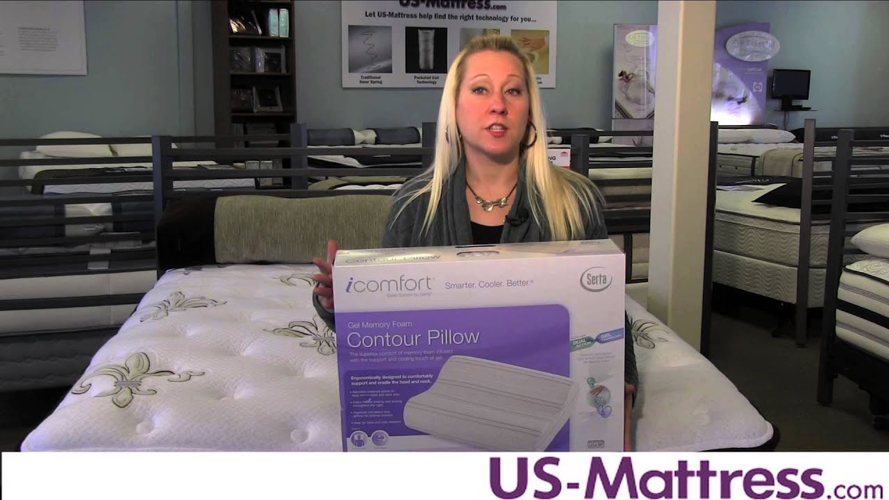 serta icomfort contour pillow with dual effects