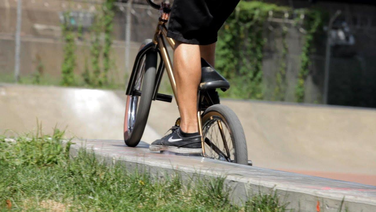 How To Do Pedal Grind Or Sprocket Grind Bmx Bike Tricks Youtube