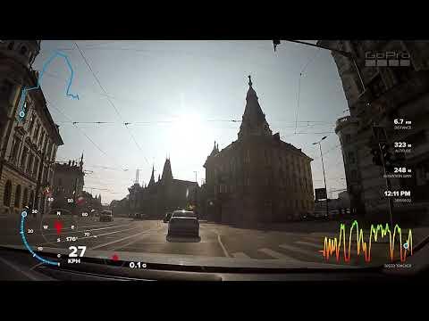 GoPro Hero 5 Gauges - Driving from Cluj to Maguri Racatau