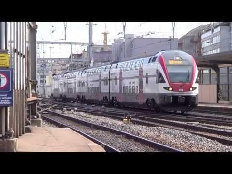 Trafic ferroviaire en gare de Genève - 13 Juillet 2013