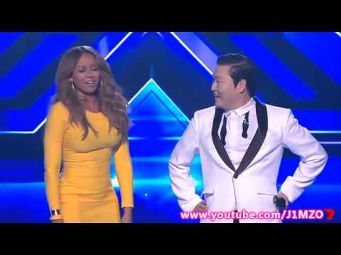 Mel B Does The Gangnam Style Dance With PSY  The X Factor Australia 2012