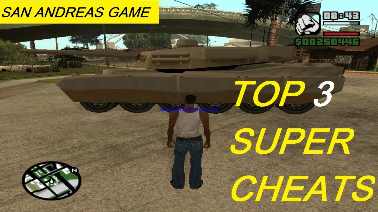 GTA San Andreas - TOP 3 Cheats (NEW 2019)